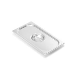 Víko standardní GN 1/4 s úchyty, s výřezem na naběračku, silikonové těsnění