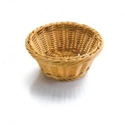 Košík na pečivo polypropylen - kulatý 23x8 cm, 26x8 cm