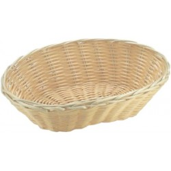 Košík na pečivo polyratan 25x16x6,5 cm