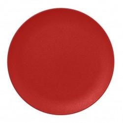 Talíř mělký 24 cm - světle červená