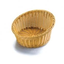 Košík na pečivo polypropylen - kulatý otevřený 35x20 cm